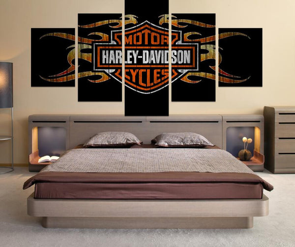 5 Piece Harley Davidson Canvas Get it Framed - Urban Street Canvas