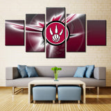 5 Pieces Toronto Raptors Sports Canvas - Urban Street Canvas