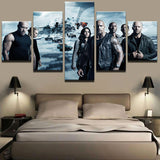 5 Pieces Movie Fast And Furious Canvas - Urban Street Canvas