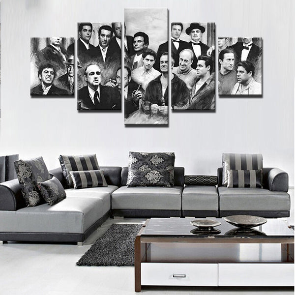 5 pieces Godfathers On Canvas - Urban Street Canvas