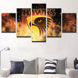 AFL 5 Panel Hawks Sports Canvas - Urban Street Canvas