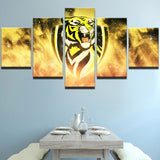 AFL 5 Panel Tigers Richmond Canvas - Urban Street Canvas