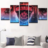AFL 5 piece Melbourne Team Canvas - Urban Street Canvas