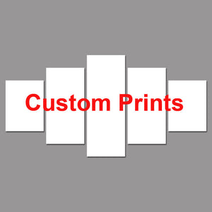 5 panels Customized Prints Custom Made Canvas - Urban Street Canvas