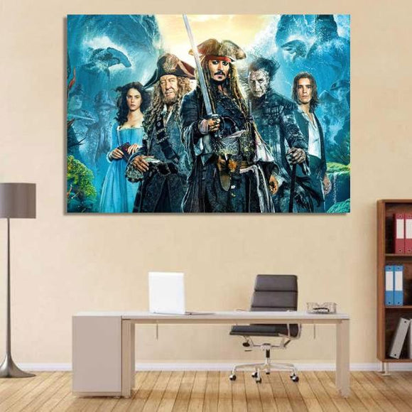 1 Piece Canvas Art Pirates of the Carribean