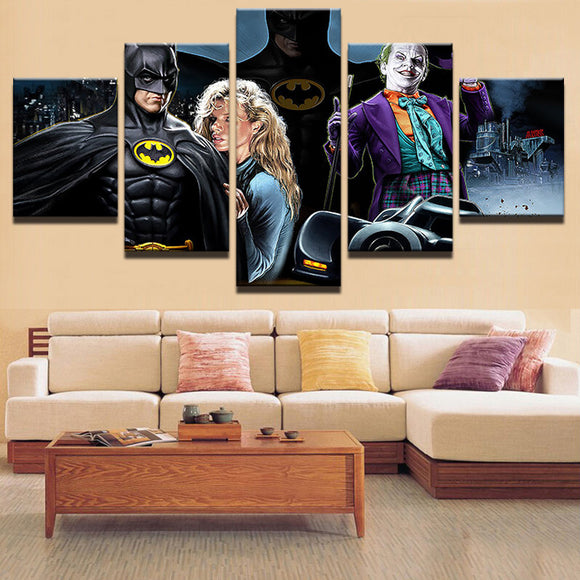 5 Pieces Movie Characters Canvas - Urban Street Canvas