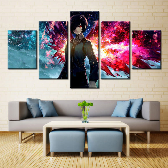 5 Panel Cartoon Tokyo Ghoul  Painting Canvas - Urban Street Canvas