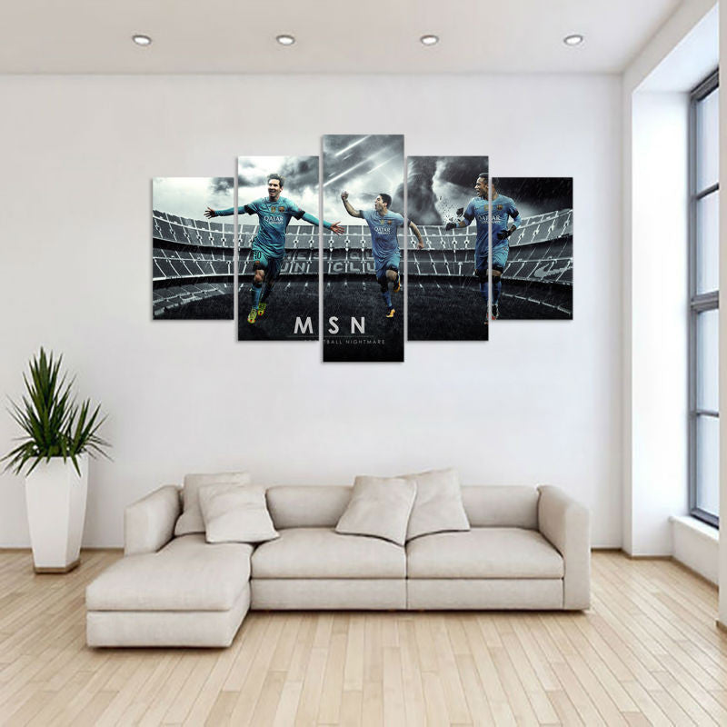 5 Panel Sports Football Players Canvas - Urban Street Canvas