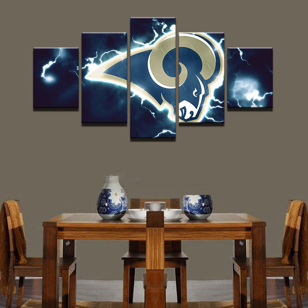 5 Pieces Modern NFL Sport Modular Canvas - Urban Street Canvas
