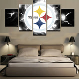 5 Pieces Sport NFL Modular Canvas Painting - Urban Street Canvas