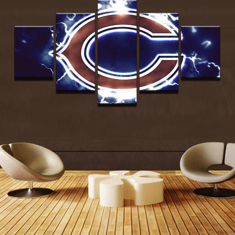 5 Pieces NFL  Modular Sports Canvas - Urban Street Canvas