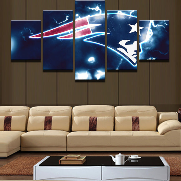 5 Pieces NFL Sports Abstract Canvas Wall Art
