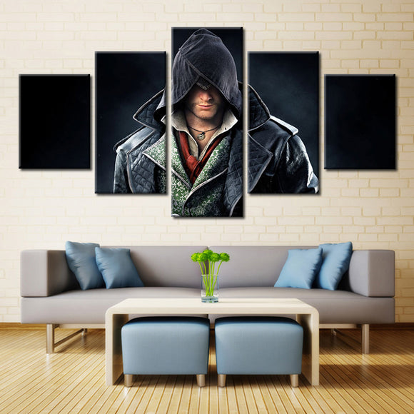 5 Pieces Game Assassin's Creed Syndicate On Canvas - Urban Street Canvas
