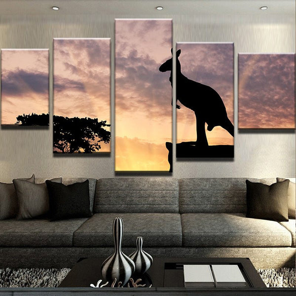 Australian 5 Panel Cute Animal For Home Painting on Canvas - Urban Street Canvas