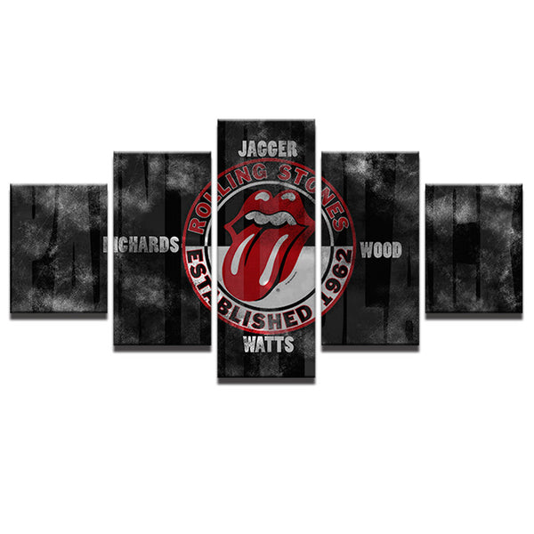 5 Panel Rolling Stones Canvas - Urban Street Canvas