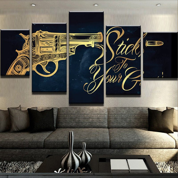 5 Panel Gun Movie Canvas - Urban Street Canvas