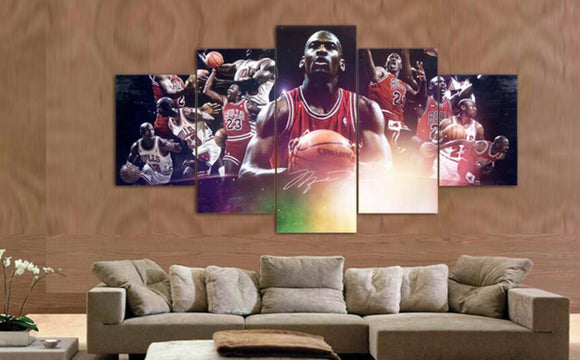 Micheal Jordan NBA Art Canvas Painting - Urban Street Canvas