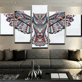 NATIVE INDIAN OWL CANVAS SET - Urban Street Canvas
