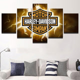 Canvas Wall Art Motor Pictures Modern Home Motorcycles - Urban Street Canvas
