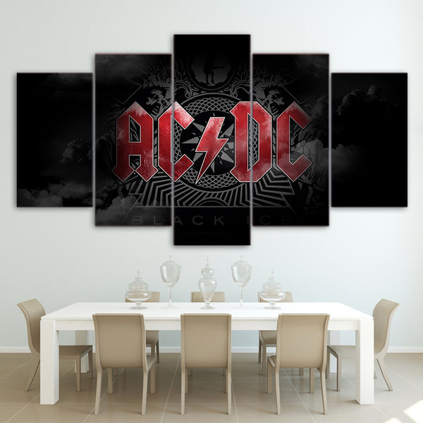 5 Piece Canvas Art AC/DC Limited Stock Get it Framed - Urban Street Canvas