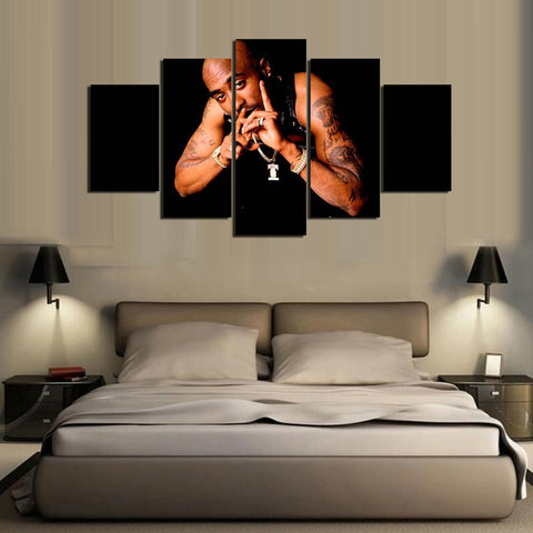 5 Pieces Tupac Amaru Shakur Canvas - Urban Street Canvas