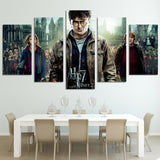 5 Pieces Harry Potter Painting on Canvas - Urban Street Canvas