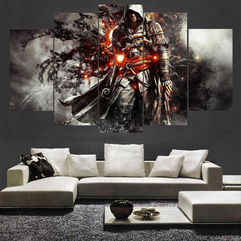 5 Panel Assassins Creed Superstar Canvas - Urban Street Canvas