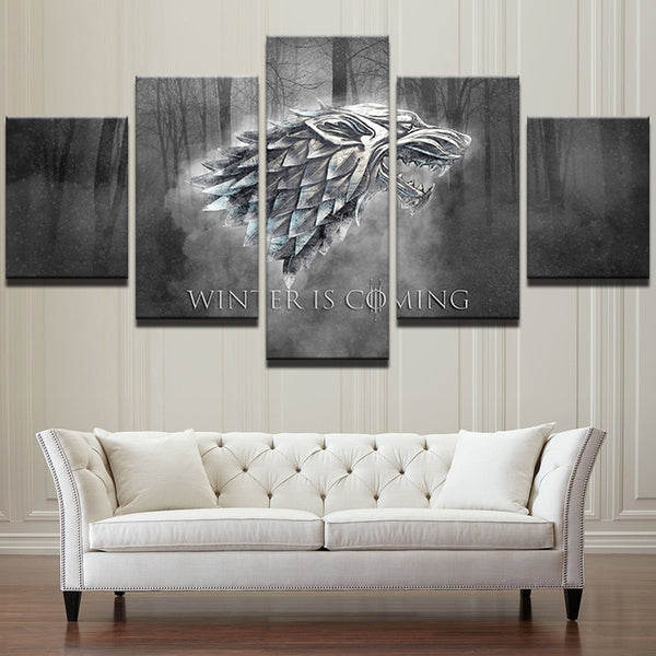 Game Of Thrones 5 Panel Canvas - Urban Street Canvas