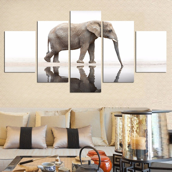 5 Pieces Animal Elephant Decor Canvas - Urban Street Canvas