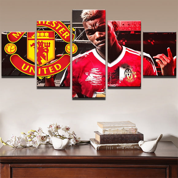 5 Pieces Football Player Paul Pogba - Urban Street Canvas
