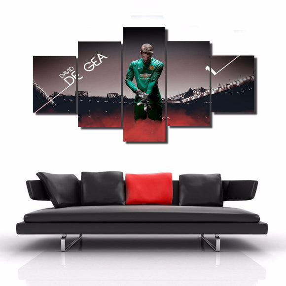 5 Panel Canvas Football Player David de Gea - Urban Street Canvas