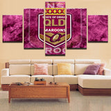 5 Panel NRL State of Origin QLD Maroons - Urban Street Canvas