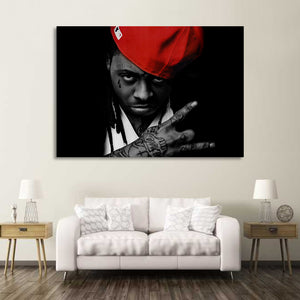 1 piece Canvas Painting Star Lil Wayne Canvas - Urban Street Canvas