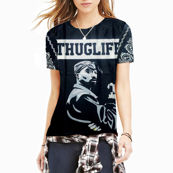 Womens Thug Life  Tupac T Shirt - Urban Street Canvas