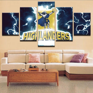 HD Print Canvas Painting Home Decorative 5 Panel Rugby Sport Modular Picture Wall Art Prints Panels Poster For Living Room - Urban Street Canvas