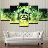Modern On The Wall Art Modular Picture 5 Panel Football Sport Club For Living Room Home Decor Painting On Canvas Drop Shipping - Urban Street Canvas