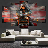 5 Panel Movie Gaming Assassins Creed Canvas - Urban Street Canvas