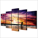 5 Pcs The Girl Stood By The Sea Modular Canvas - Urban Street Canvas