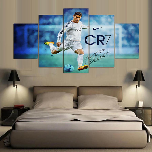 5 Panel Soccer Sport Player CR7 Canvas - Urban Street Canvas