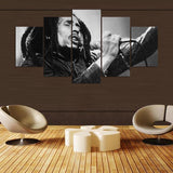 5 Panel Bob Legend Wall Art Canvas - Urban Street Canvas