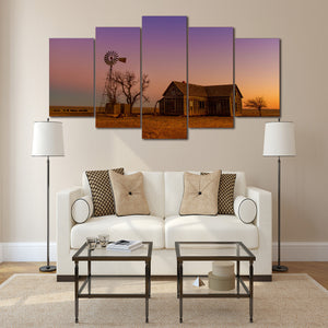 Outback  5 Panel House Landscape Paintings On Canvas - Urban Street Canvas