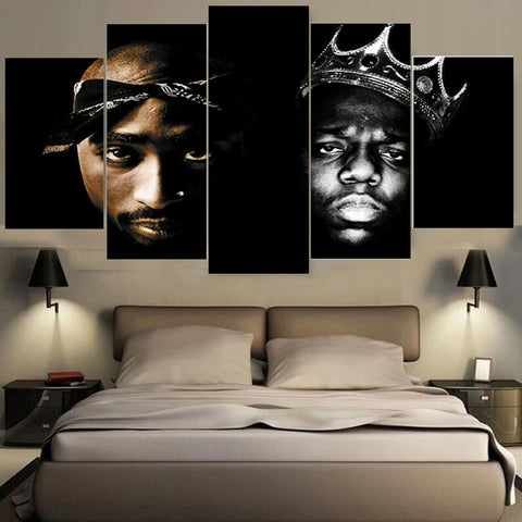 5 Pieces Hip Hop Music Singer Canvas - Urban Street Canvas