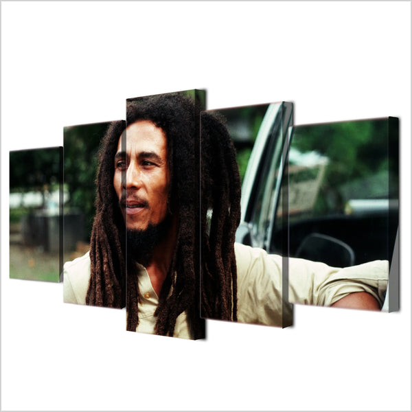5 Panel Bob Marley Painting Canvas - Urban Street Canvas