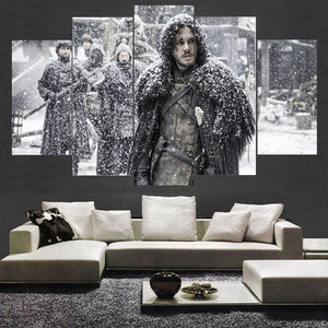 5 Panel Movie Game Of Thrones Canvas - Urban Street Canvas