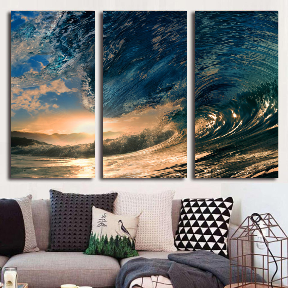 Printed tropical Paradise Ocean  Painting Canvas - Urban Street Canvas