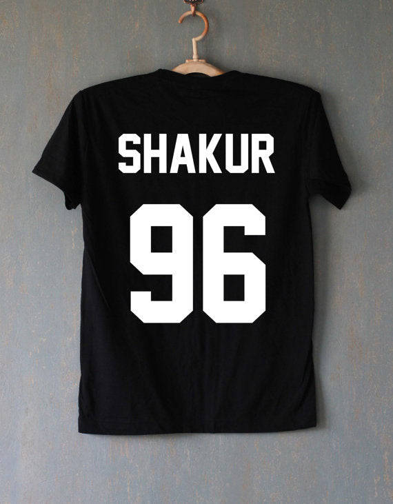 Unisex  Shakur 96 Tupac 2PAC T-Shirts Black or White - Urban Street Canvas
