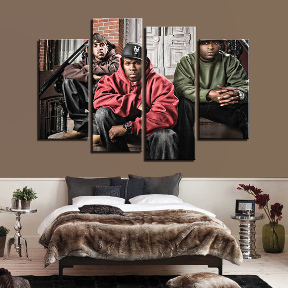 4 Panel Music Singer G-Unit 50 Cent Canvas - Urban Street Canvas