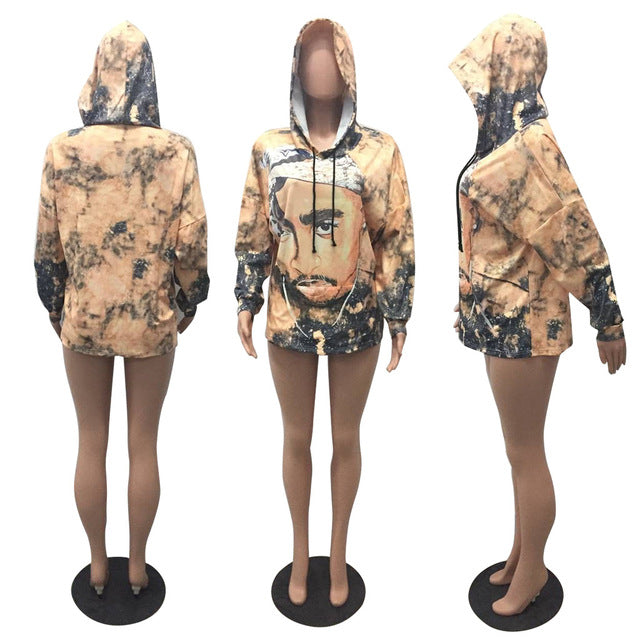 New Women 2pac Hooded Sweatshirt Sizes S-2XL - Urban Street Canvas
