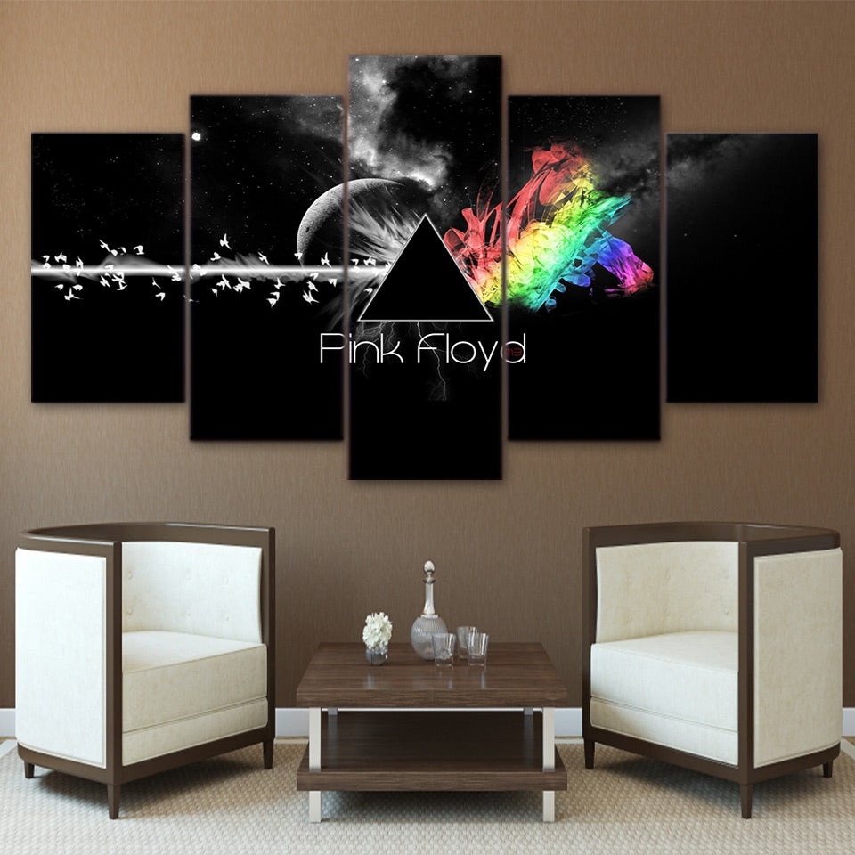 5 Pieces Pink Floyd Canvas - Urban Street Canvas
