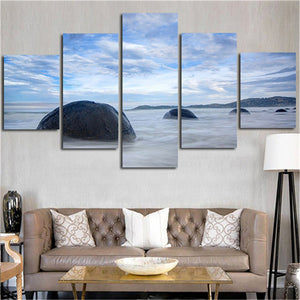 5 Piece Beach Landscape Canvas - Urban Street Canvas